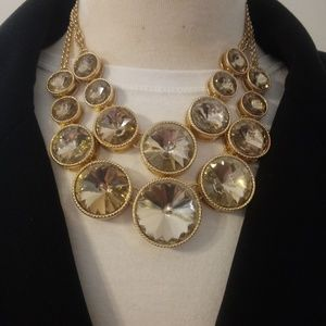 Jewelry - Large Champagne Crystal Statement Necklace